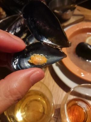 0617ムール貝の中のカニ